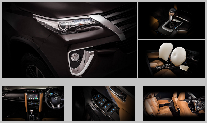TOYOTA FORTUNER 2018 Interior