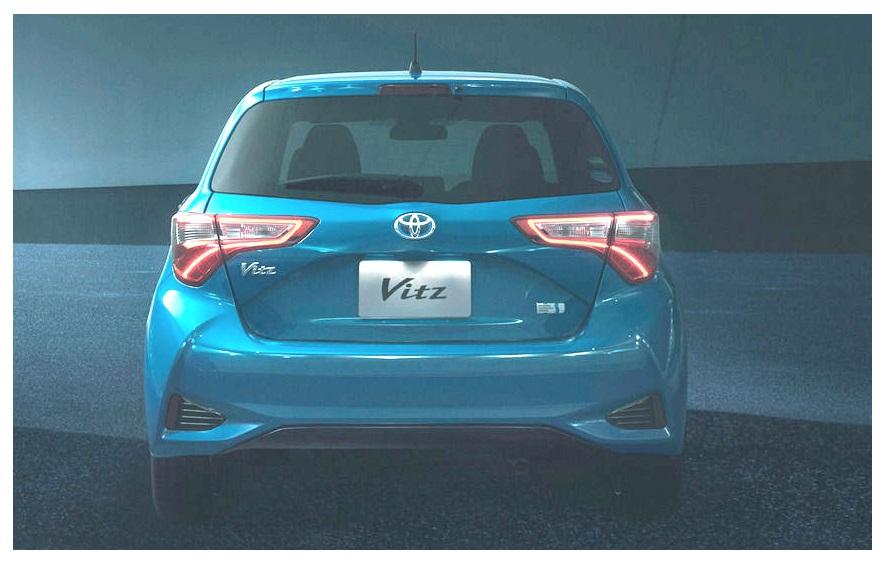 Toyota Vitz 2017 Back look