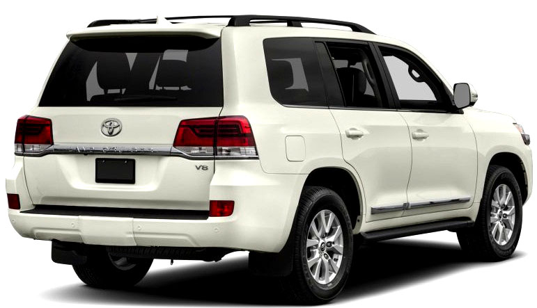 Back side Picture of Toyota Land Cruiser 2017 Luxury SUV in Pakistan