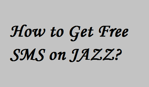 How to Get Free SMS on JAZZ1