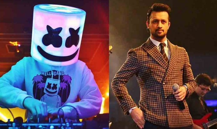 American Famour DJ Marshmello Sends a Message to Atif Aslam